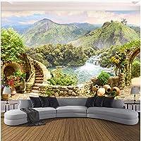 Xbwy 装飾壁画壁紙ガーデンマウンテンレイク風景壁画リビングルームベッドルーム家の装飾-280X200Cm