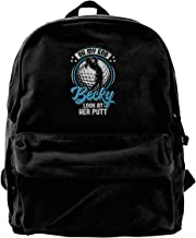 Blcak Backpack Shoulder Classic Book Bag Oh My God Becky Look At Her Putt