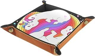 BestIdeas Panier de rangement carré 20,5 × 20,5 cm, avec adorables licornes, arc-en-ciel, étoiles, Yin Yang, boîte de rang...