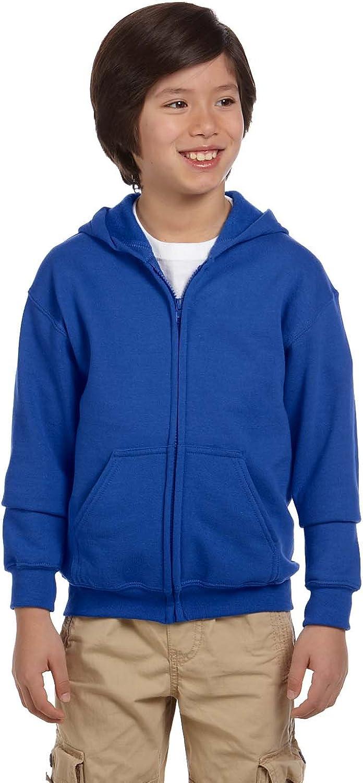 Gildan Big Boy's Heavy Blend Hooded Sweatshirt, Royal, Medium