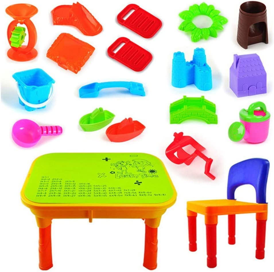 YXYH Childrens Sand and Water 2 Play Set Sacramento Mall Table Long-awaited Toy