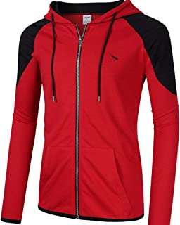 Men's Full Zip Hoodie,Leegor Casual Long Sleeve Fleece Lightweight Athletic Hooded Slim Fit Sweatshirt with Kangaroo Pocket