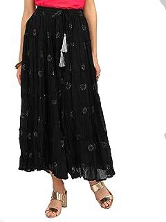 Foil Print Tiered Skirt