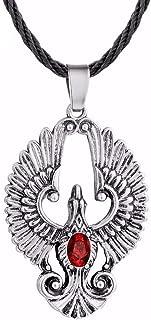 Rouge et Bleu collier collier de Phoenix Phoenix Bijoux Feu et leau Collier spirituel dun superbe Cadeau. Phoenix Fire et de leau Pendentif