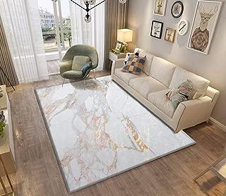 Chic Elegant Gold Marble Area Rugs Non-Slip Floor Mat Doormats Home Runner Rug Carpet for Bedroom Indoor Outdoor Kids Play Mat Nursery Throw Rugs Yoga Mat