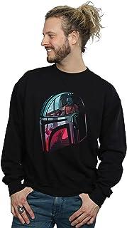 Star Wars Men's The Mandalorian Mandalore Helmet Reflection Sweatshirt