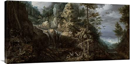 Global Gallery Budget GCS-456820-1836-142 Roelandt Savery Landscape with The Temptation of Saint Anthony Gallery Wrap Giclee on Canvas Print Wall Art, 18 inches x 36 inches