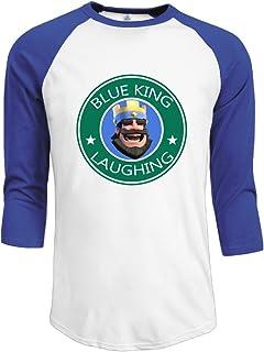 SAXON13 Men's Lovely Blue King Laughing Raglan Tri-bend