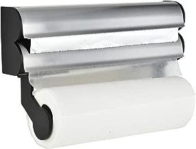 Frigidaire Paper Towel Holder Wall Mount, Foil Cutter and Plastic Wrap Dispenser