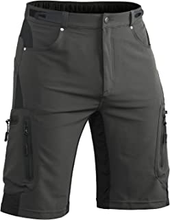 Hiauspor Men Hiking Shorts Lightweight Outdoor Quick Dry Shorts with Zipper Pockets