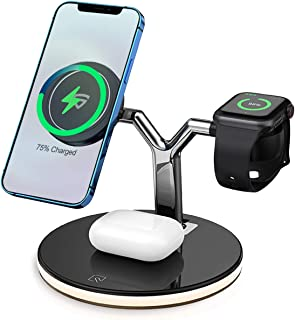 RAEGR MagFix Arc M1700 10W+10W+5W Wireless Charger for iPhone 12 Pro Max/iPhone 12 Pro/iPhone 12 / iPhone 12 Mini, AirPod ...
