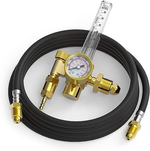 popular YESWELDER CO2 Argon Regulator with Gas Hose online sale new arrival TIG Welder outlet sale
