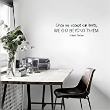 pouik Quotes Wall Sticker Mural Decal Art Home Decor Once we Accept Our Limits, we go Beyond Them.