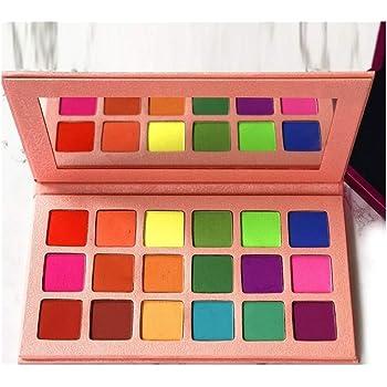 18 Colores Neon Obsessions Paleta De Sombras De Ojos Brillo Mate Sombra De Ojos Maquillaje Pallete Festival Maquillaje De Ojos Nude Pigment Powder (Color : 1PC): Amazon.es: Belleza