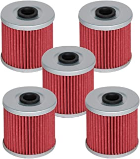 HIFROM Oil Filter for Kawasaki KLF220 KL250 KLR250 KSF250 KLF300 KSF250 KEF300 KL600 KLR600 650 KL650 KLR650 ATV Replace HF123, KN123