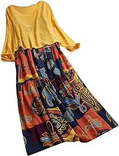 FSSE Women's 2 Pcs Sundress Plus Size African Print Dashiki Beach Party Maxi Dress