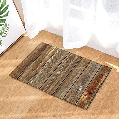SRJ2018 Vintage und klare Holzbohlen Super saugfähig, rutschfeste Matte oder Fußmatte, weich und bequem