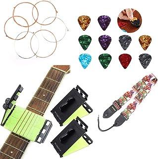XIDAJIE Guitar Accessory Kit, Guitar Fretboard Cleaners with Guitar Strings, Guitar Picks, Guitar Strap, Cleaning Maintena...