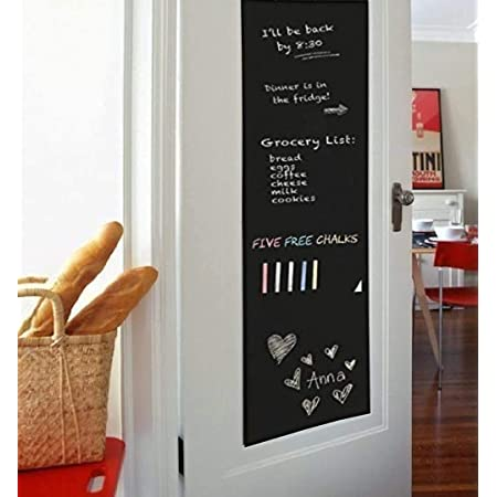 PEEL STICK WRITE 17.7 x 80 sticker self adhesive to any surface wall sticker chalkboard green board with chalk pvc