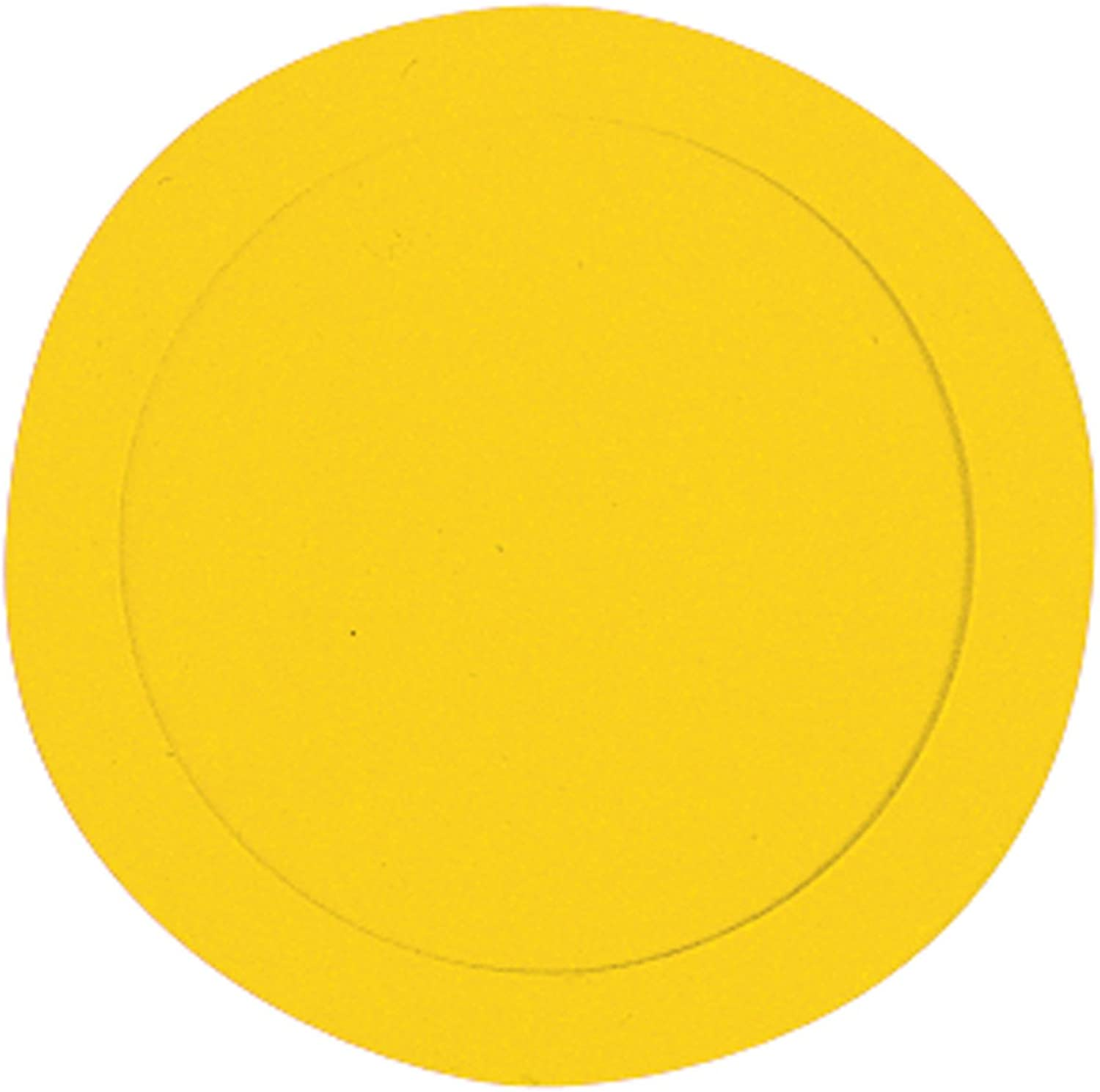 Markwort 9-Inch Rubber Poly Spots-Box of 10 (Yellow)