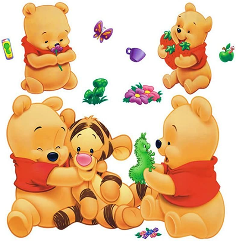 Gadfly Winnie The Pooh And Tigger Stick Nursery Baby Wall Sticker Decal