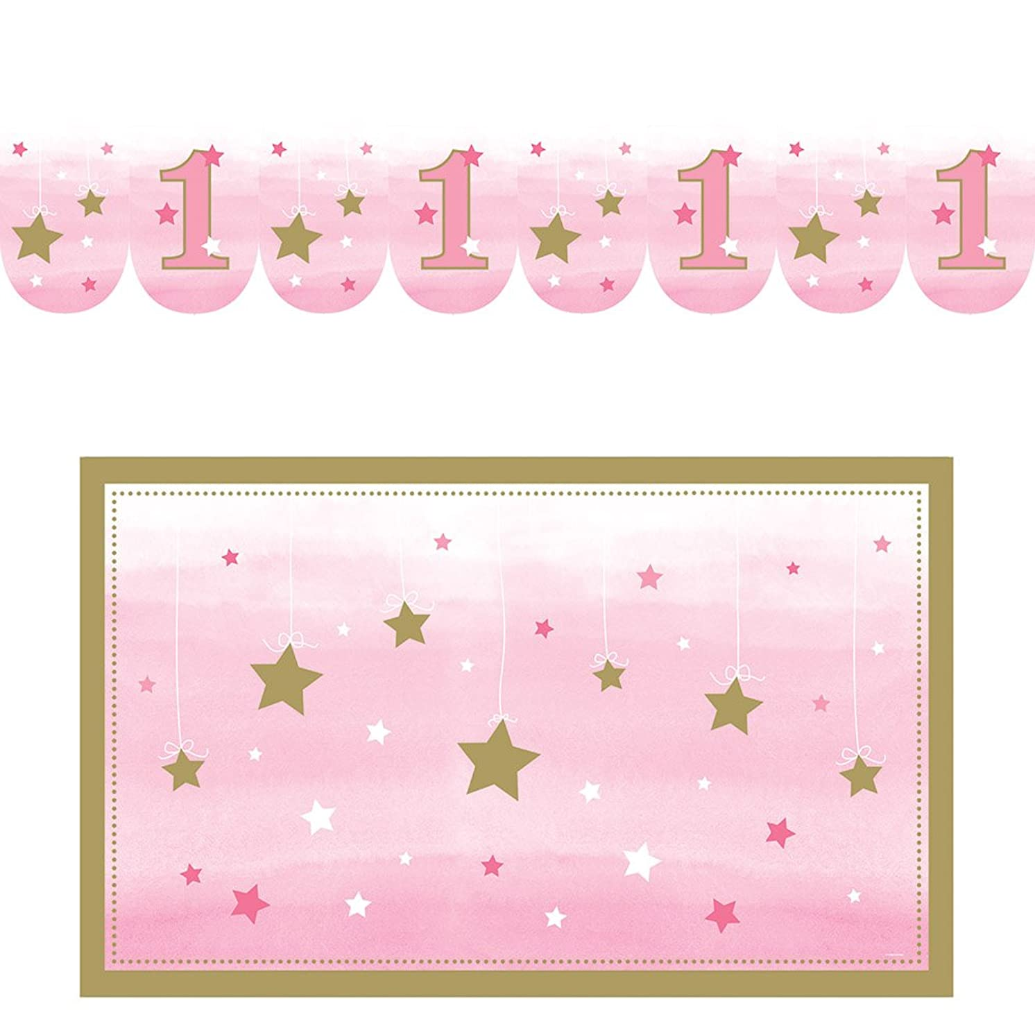 Creative Converting 322256 One Little Star - Girl Decorations, 0.188