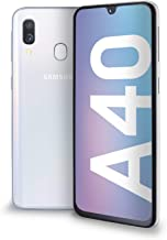 "Samsung Galaxy A40 Display 5.9"", 64 GB Espandibili, RAM 4 GB, Batteria 3100 mAh, 4G, Dual SIM Smartphone, Android 9 Pie, (2019) [Versione Italiana], White"