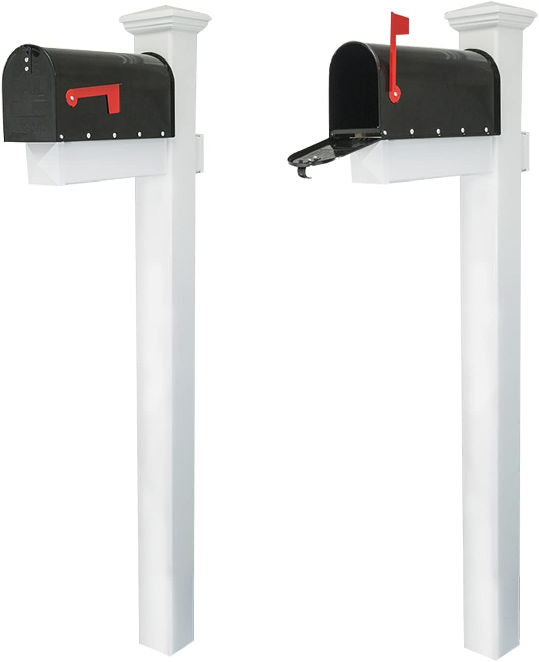 Houseables Mailbox and Post Kit, Decorative Mail Box Included, W