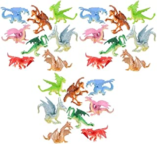 Novelty Treasures Mythical Fantasy 2 Inch Dragon Figures 24 Pack Birthday Party Goody Bag Treat