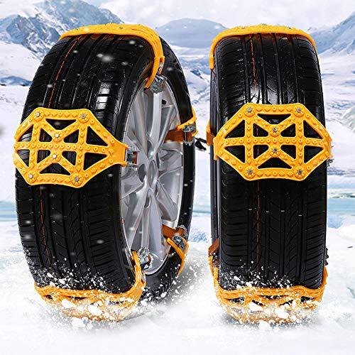 XJ 8 pcs Universal Anti Schnee Ketten Anti-Rutsch und Einstellbar für Auto Schneeketten Auto mit TUV/GS/ONORM V 5117 SUV/LKW Auto Schneeketten Anti Rutsch Kette für Auto LKW SUV im Winter-Fahren