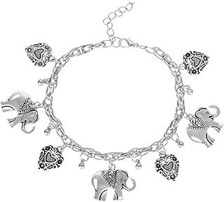 Petit éléphant Bracelet Fantasy Animal Bracelet en Cuir Réglable Bracelet