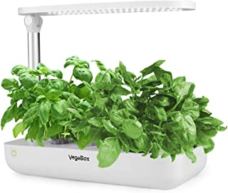 Hydroponics Growing System,Support Indoor Grow,herb Garden kit Indoor, Grow Smart for Plant, Built Your Indoor Garden (Small-White)