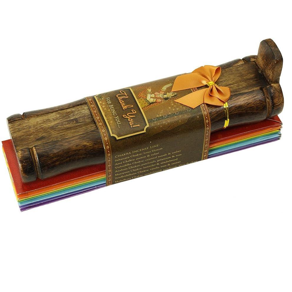 誇りオーストラリアタックお香ギフトセット?–?竹Burner + 7?Chakras Incense Stick & Greeting : Thank You For Being You