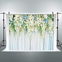 Riyidecor Bridal Floral Wall Backdrop Romantic White Rose Photography Background Marriage Dessert 10Wx8H Feet Decoration Wedding Props Party Photo Shoot Backdrop Vinyl Cloth