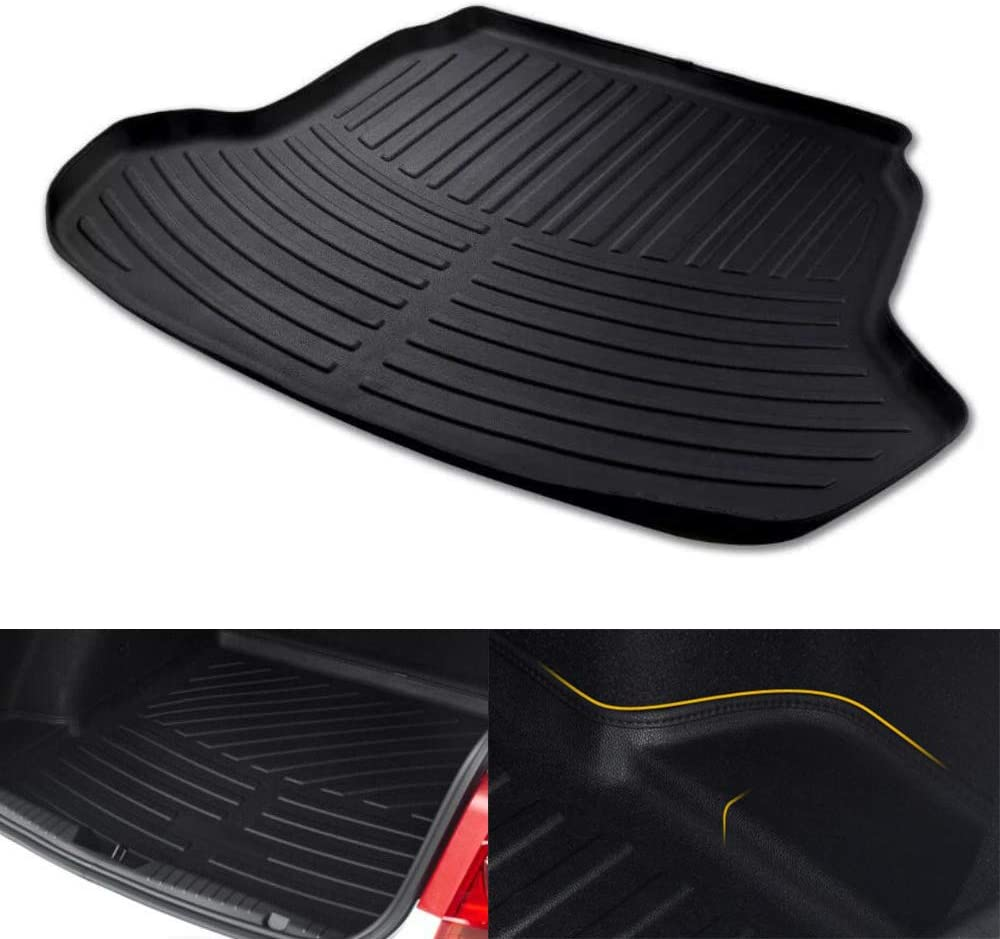 Momoap Outstanding Car Large discharge sale Black Leather Boot Pad Mat Cargo Tray Tru Liner