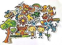 25ピース子供クレヨン落書きステッカー工芸品とスクラップブッキングステッカー子供のおもちゃの本装飾ステッカーDIY文房具