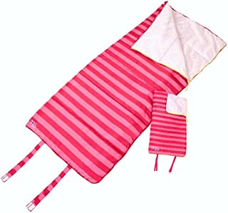Our Generation 18 Inch Doll Adventure Slumber Sleeping Bag for Me & You with Pink Stripes