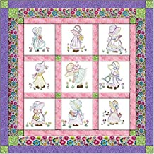 Quilt Kit Sunbonnet Babies/Pre Cut Ready to Sew/Finished Embroidery