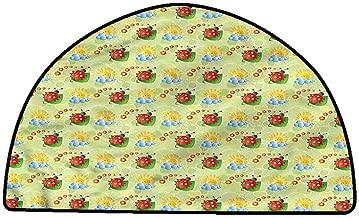 Living Room Bedroom Carpets Nursery,Happy Sun Flowers Bugs,W35