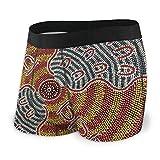LREFON Artisti aborigeni da Uomo Presso Il Sarah Symbol Boxer Traspiranti Slip Comfort con Fascia Larga Sport Esotico Intimo Giovanile Boxer