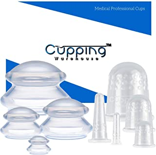 Supreme/Classic Combo- Cupping Warehouse Professional Medical Silicone Cupping Therapy Set (8SupremeClassicCombo)