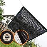 Tela de sombra Courtyard Sunblock Shade Cloth Diseño de Doble Cara, 75% Resistente a Los Rayos UV Lona Reflectante de Malla de Aluminio para Cubierta de Villa, Borde con Ojales (Size : 1.5×2m)