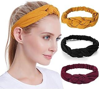 Catery Boho Headbands Sport Yoga Running Headband Stylish Criss Cross Headpiecce Vintage Head Wrap Hair Band Bohemia Cotto...