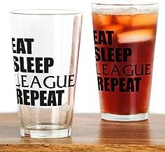 CafePress Eat Sleep League Repeat Pint Glass, 16 oz. Drinking Glass