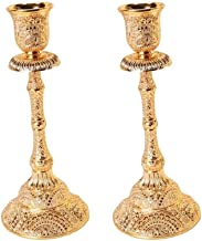 NXYCXXJS 2 Decorative Candle Holders, Alloy One-arm Candle Holders, Used for Weddings and Home Decoration
