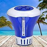 Deuba® Dosierschwimmer Chlordosierer für Pool Schwimmbecken Thermometer Wasserqualität 200g Chlor...