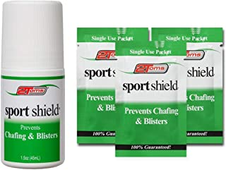2Toms SportShield - Anti-Chafe and Blister Prevention for Your Body, Combo Pack, 1.50 Ounce Roll-On Bottle and 3 Travel Single Use Packets
