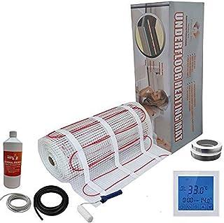 Nassboards Premium Pro - Kit Élite de Calefacción Eléctrica Por Suelo Radiante de 200 W - 9.0m² - Termostato Blanco Con Pantalla Táctil