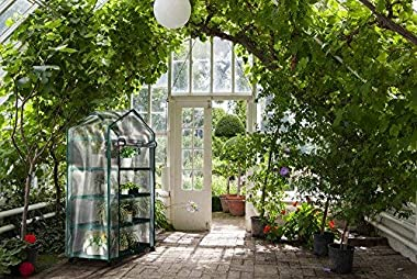 Mini Greenhouse-4-Tier Indoor Outdoor Sturdy Portable Shelves-Grow Plants, Seedlings, Herbs, or Flowers in Any Season-Gardeni