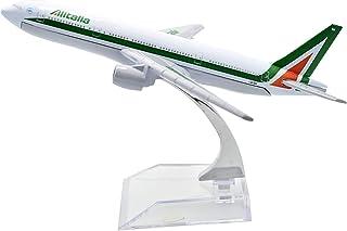 飛行機モデル模型飛行機、飛行機愛好家、16cmアリタリア航空B777-200金属飛行機モデル、1:400飛行機モデル、記念Co(装飾玩具ギフト)用